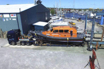 Shannon lifeboat during transport & delivery