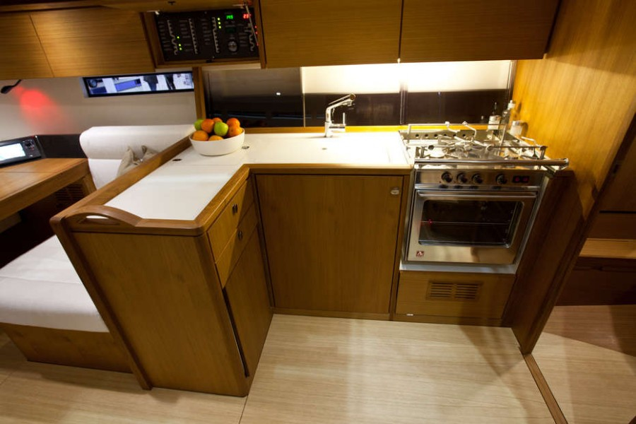 Solaris 42 galley Interior
