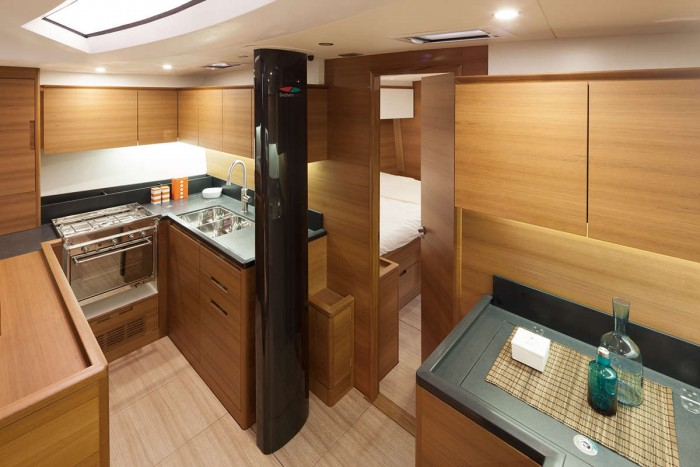 Solaris 58 galley Interior