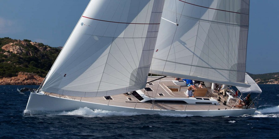 Solaris 58 under sail Exterior