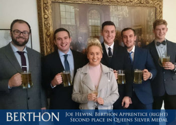 Joe Hewin, Berthon Apprentice - Second place Queens Silver Medal Award