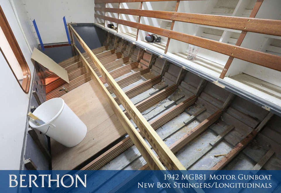 F29 - NEW BOX STRINGERS LONGITUDINALS - 1942 MGB81 MOTOR GUN BOAT REBUILD AND RESTORATION - BERTHON BOAT COMPANY