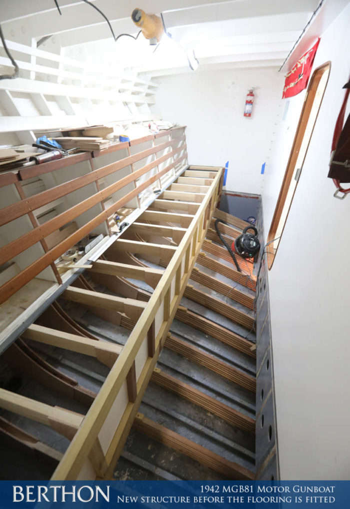 F37 - NEW STRUCTURE BEFORE THE FLOORING IS FITTED - 1942 MGB81 MOTOR GUN BOAT REBUILD AND RESTORATION - BERTHON BOAT COMPANY