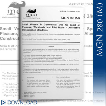 Maritime & Coastguard Agency MGN 280 (M) documentation