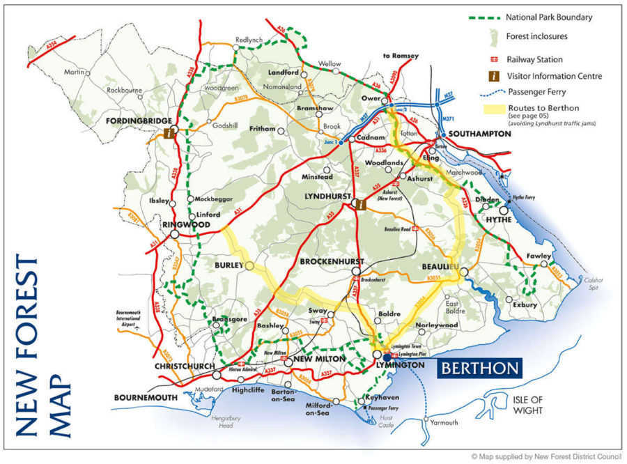 Berthon Location Map