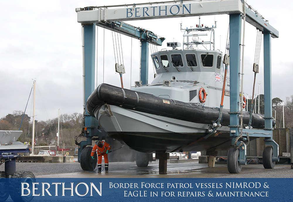 UK border Force Vessel Repairs & Maintenance - Berthon