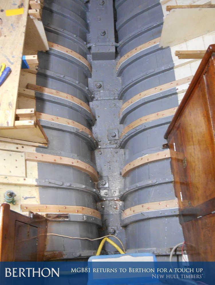 New hull timbers