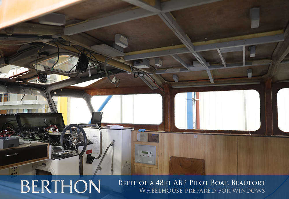Wheelhouse prepared for windows