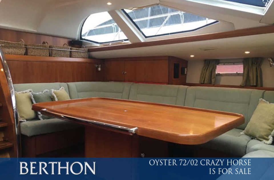 Oyster 72/02 CRAZY HORSE is for sale