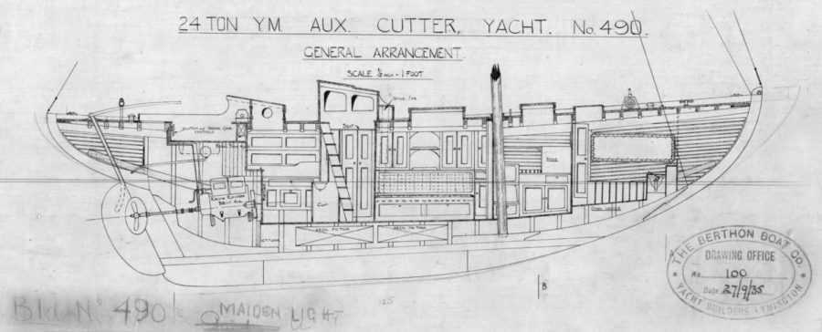 24-Ton-Aux-Cutter-General-Arrangement