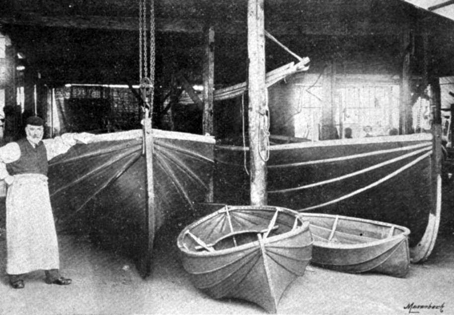 Berthon Collapsible Lifeboat - Building lifeboats in the original workshop