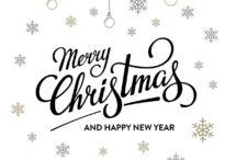 Christmas Lettering White