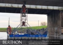 TPA and Versadock supporting rail infrastructure upgrades – Pontoon Scaffold Tower & Safety Boat 4
