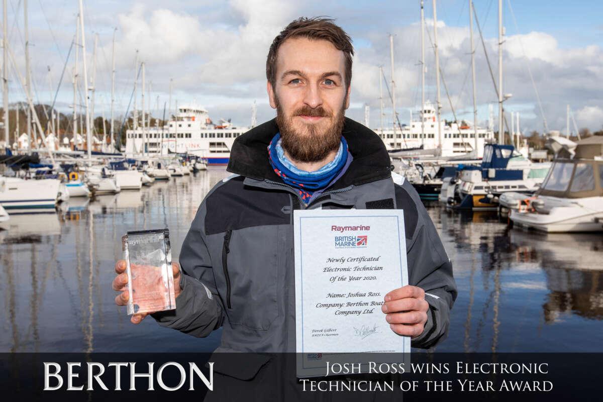 Josh Ross wins Electronic Technician of the Year Award